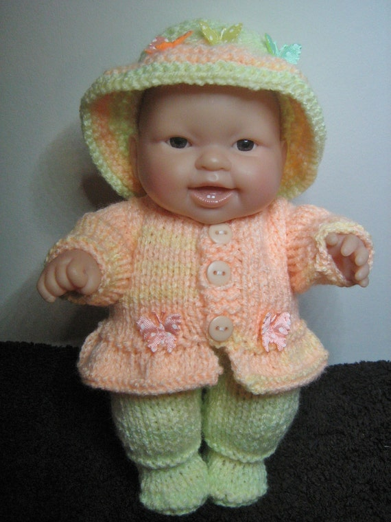 Knitting Patterns For 8 Berenguer Doll Clothes : Knitting Pattern for 8 Berenguer Dolls Clothes