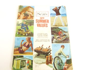 Vintage Sears Catalogue 1972 Summer Values