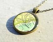 Vintage Toronto necklace pendants, map glass pendant,map pendant charm,resin pendants,Canada map- M2005CP