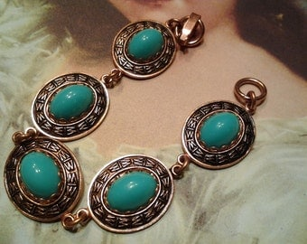 vintage costume jewelry blue bracelet cuff bangle