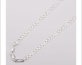 """5pcs 26"""" 4mm silver plated Figaro Chain Necklace"""