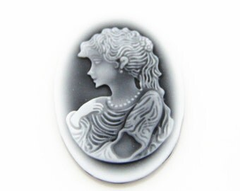 6 pcs of resin cameo top high quality vintage cameo 18x25mm-0350