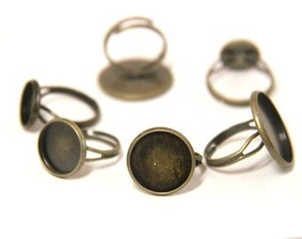 16 pcs of brass ring base-4032-bronze-16mm