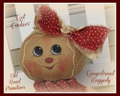 Got Cookies Gingerbread Raggedy Instant Download PDF Pattern