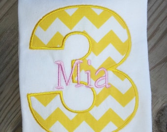 Personalized Birthday Shirt. 1st Birthday, 2nd Birthday, 3rd Birthday, 4th Birthday, 5th Birthday.