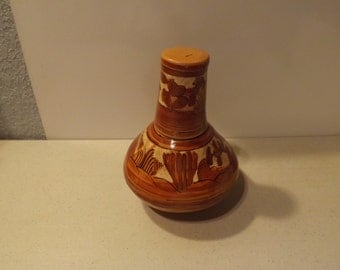 Mexican Pottery Decanter and Cup