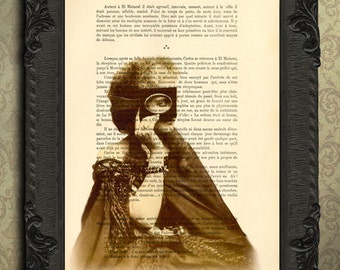 Sepia prints, Victorian countess sepia art antique photograph victorian woman with mask