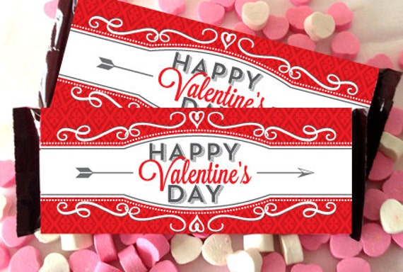 Valentine candy bar wrapper printable fits oz for Valentine candy bar wrapper templates