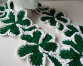 Shamrock Scarf - Crochet Scarf - Green scarf - Fashion Scarf - Irish scarf - St Patricks Day - ShelleysCrochetOle
