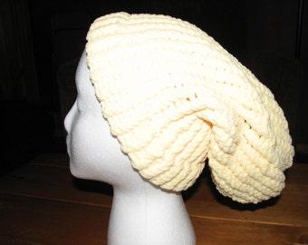 Loom Knit Hat - Yellow