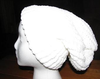 Loom Knit Hat - White 2