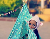 Doll Sized Tent Blythe or Similar 18 inch high Doll Teepee