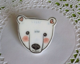 Polar Bear Brooch Polar Bear Jewelry Polar Bear Pin Polar Bear Jewelery Polar Bear Jewellery