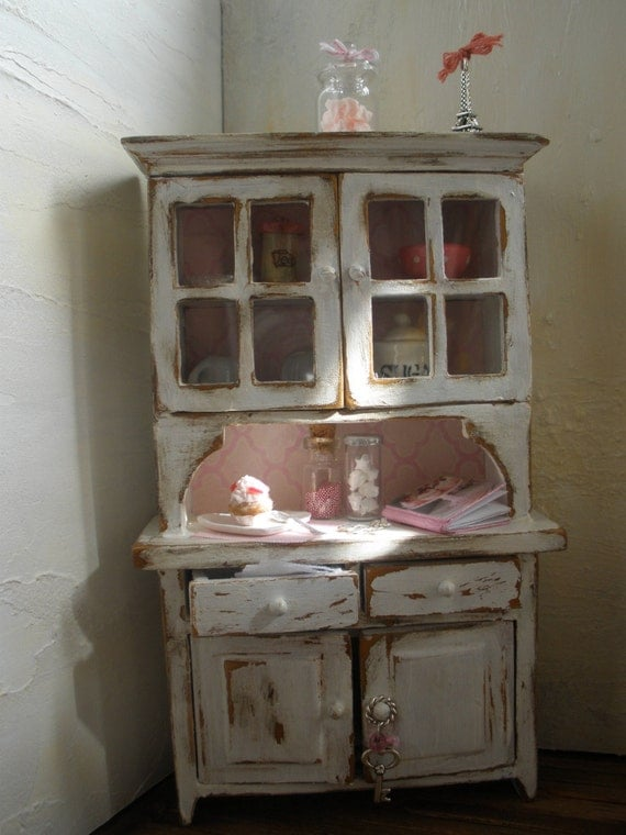 Sale cupboard shabby chic style cottage style - Shabby chic decor for sale ...