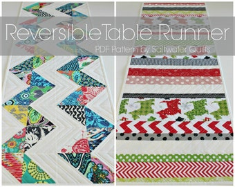 Reversible Table Runner - Instant Download PDF Pattern