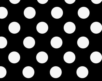"Black Polka Dot Gift Wrap - 30"" x 96"" Roll - Various Colors Available"