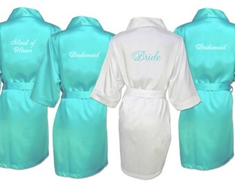 cheap silk wedding robes