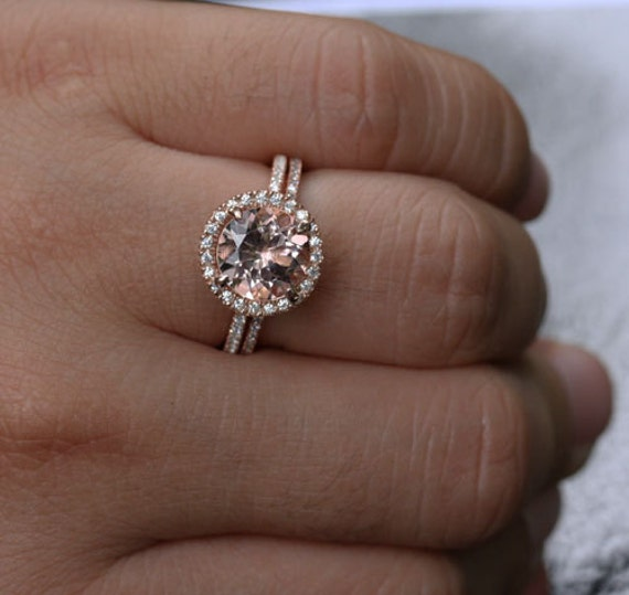 Dollar 200 DISCOUNT Stunning Morganite Engagement Ring Wedding