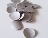 200 Silver Kraft Paper Circle Confetti, Party, Wedding, Events, Decorations