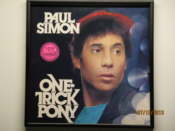 Glittered Record Album - Paul Simon - One Trick Pony