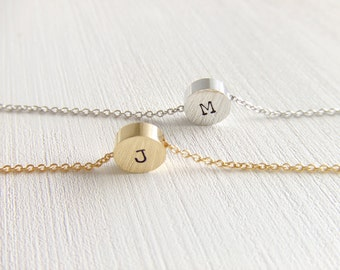 Mini Circle Personalized Jewelry Necklace, Simple Dainty, Everyday Wearable, Gift for Her