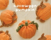CROCHET PATTERN Halloween Pumpkins Amigurumi Crochet Pattern, Instant PDF Download - Chart & Written Pattern
