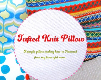 Tufted Knit Pillow downloadable eBooklet