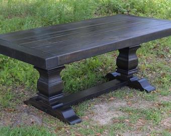 Harvest Table | Dining Table| Farmhouse Table Ebony - shipping included