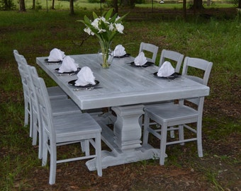 Harvest Table   Dining Table   Farmhouse Table Weathered Grey- shipping included