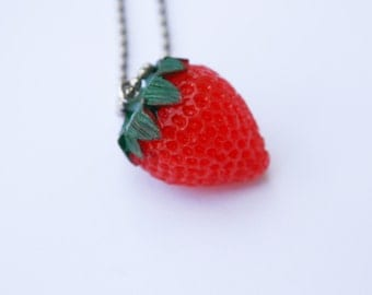 The Strawberry - Funky Shrunky Necklace