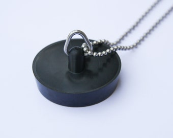 The Bath Plug - Funky Shrunky Necklace