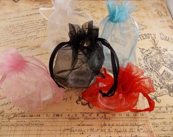 10- 2x3 Organza Gift Bags in 5 awesome colors