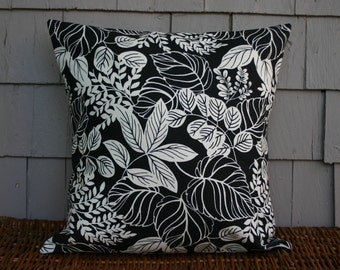 Black and white botanical -Throw Pillow Cover