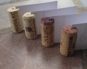 Wine Cork Place Card Holders Set of 25 for Weddings - Parties