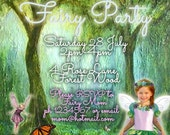 Enchanted Forest Fairy Party Printable Invitation - with Photo