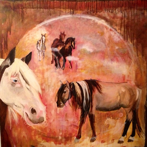 Mustang horse painting - photo#23