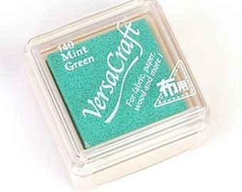 Rubber Stamp Ink Pad - VersaCraft Versa Craft Stamp Inkpad - for fabric, paper, wood and more - SMALL VKS-140 *Mint Green*