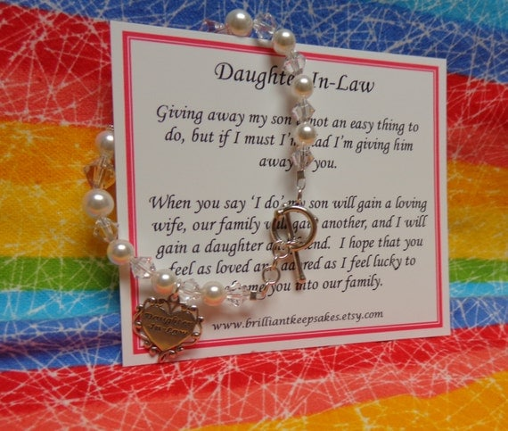Wedding Gifts For Daughter In Law : Future Daughter In Law Wedding Gift Bracelet by BrilliantKeepsakes