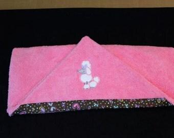 Poodle Hooded Towel