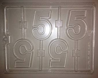 L50 - Chocolate Lollipop Mold - Number 5