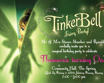 Tinkerbell Party Invitation Free Printable orderecigsjuiceinfo