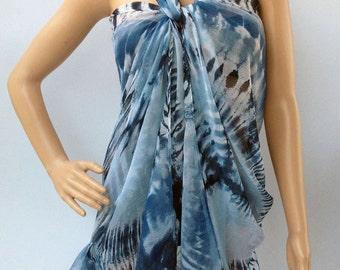 big voile tie dye Peace / Anti-War Symbol women scarf sarong