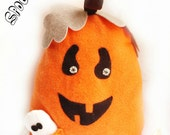 Halloween pillow, halloween toy, halloween decor, halloween plushie,pumpkin doll, rag doll - Fairybugcreativetoys