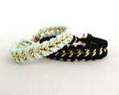 DIY Bracelet Kit: Supplies & Material Kit for Suede and Chain Woven Bracelets
