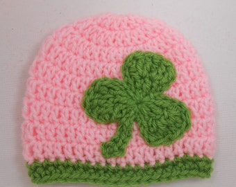 Crochet Irish Saint Patricks Day Crochet Hat for Girls
