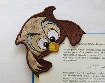 Embroidered Owl Corner Bookmark