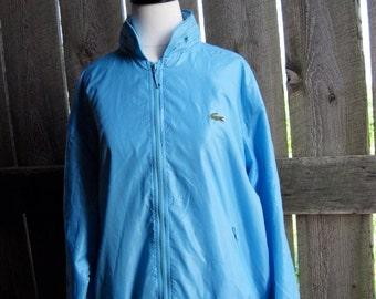 Men's Vintage Sky Blue Izod Nylon Jacket
