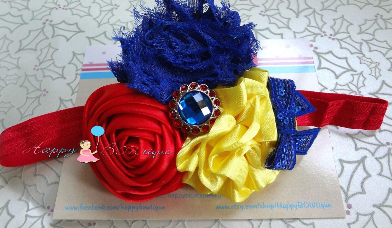 Trio Princess Snow White Headband Princess Baby Girl