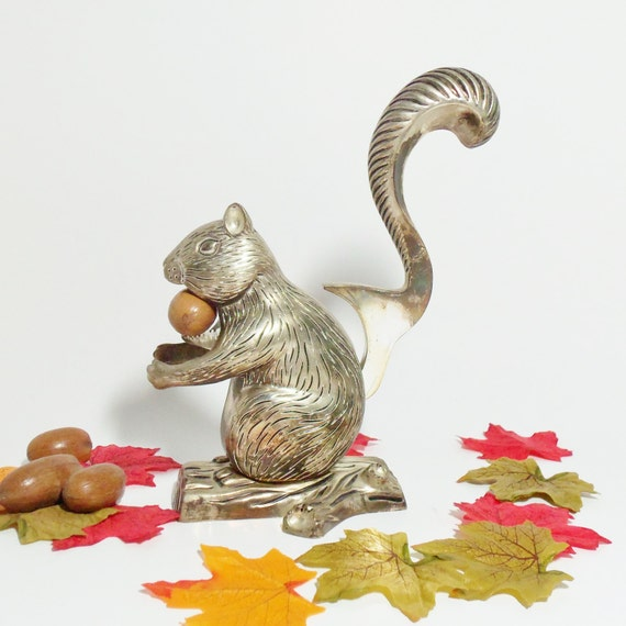 Nutcracker squirrel godinger silverplate barware tools kitchen Nutcracker squirrel