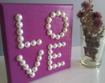 "Purple ""Love"" Canvas"